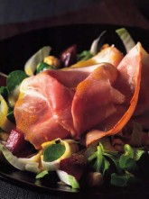 Winter Salad of Counrty Ham with Beets, Endive and Lamb's Lettuce