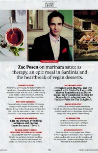 Zac Posen in Food and Wine